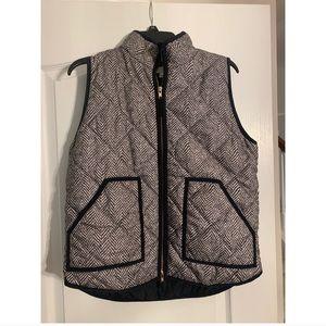 J Crew Herringbone Puffer Vest